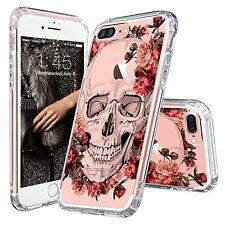 iPhone 7 Plus Case, Cool iPhone 7 Plus Case, MOSNOVO Floral Skull Flower...