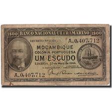 [#570112] Mozambique, 1 Escudo, 1944, KM:92, 1944-05-23, TB