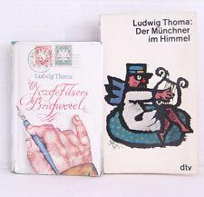 Ludwig Thoma 2x Der Münchner Himmel / Ludwig Thoma Jozefe Filsers Briefwechsel