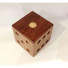 Karakuri Caja Hakone yosegi japonés Truco Puzzle Caja Dados de Madera Nuevo