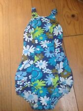 Vintage Women's Speedo Swimsuit Size 34 (XS) Blue Floral 70s Perfect Condition
