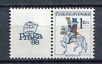 33333) Czechoslovakia 1987 MNH Post Rider 1v+ Lab