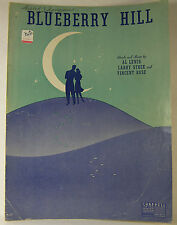 Vintage SHEET MUSIC 1940 BLUEBERRY HILL by Al Lewis Larry Stock Vincent Rose