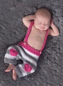 Baby Girl Elf Hat & Pants - Heart Design - 0-6 Months
