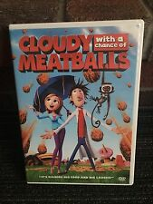 CLOUDY WITH A CHANCE OF MEATBALLS DVD MOVIE WATCHED A FEW TIMES
