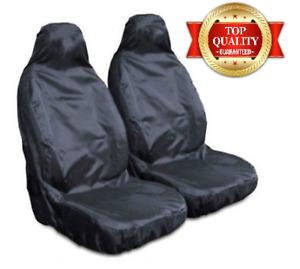Fiat Panda 2 x Fronts Heavy Duty Black Waterproof Car Seat Covers 2012-