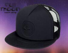 New Quiksilver Pressure Mens Black Trucker Snapback Cap Hat