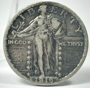 1919 USA Standing Liberty Silver Quarter in XF Condition (352)