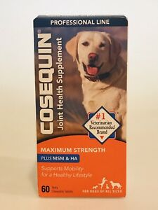 Cosequin DS 60 Tablets Joint Health Supplement Dogs SEALED BOX x 7/2023