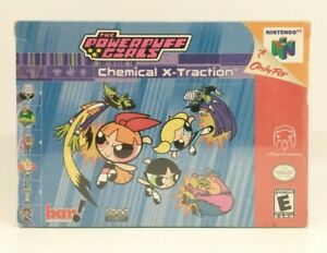 Powerpuff Girls Chemical X-Traction (Nintendo 64 N64) Brand New, Factory Sealed