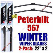 WINTER Wiper Blades 2pk Premium fit 2014+ Peterbilt 567 - 35220x2