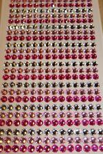 1029pc 3mm Hot Pink Soft Diamond Rhinestone Gemstone Scrapbooking Stickers 829