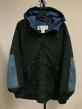Mens COLUMBIA Jacket Coat Black and Navy Size Small