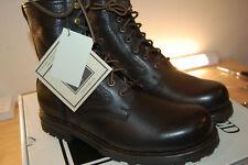 NIB FRYE Men's Warren Combat Shearling Lace Up Boots Leather 8.5 M Black $478