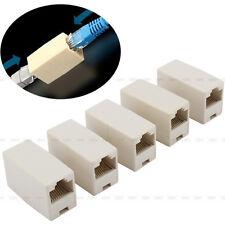 Hot Sale 5pcs Ethernet Lan Cable Joiner Coupler Connector Network RJ45 CAT 5 5E