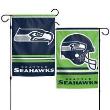 "Seattle Seahawks 2 Sided 12.5"" x 18"" Garden Flag [New] Nfl Banner Sign Yard"
