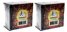 20x Recordable Mini CD-R 21min 185mb 8cm CDR CD Blank Compact Disc + Jewel Case
