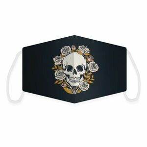 New Skull & Roses  -  Face Mask - Face Covering - Gothic Mask - Halloween Mask