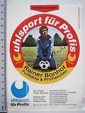Aufkleber Sticker Uhlsport - Rainer Bonhof - Fussball - 70er Jahre - B'MG (1838)