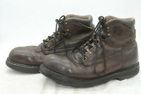 Vtg Red Wing Shoes Men's Sz 12 Brown Steel Toe Lace Up Leather Work Logger Boots