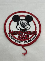 """Vintage Disney Mickey Mouse Club Patch Walt Disney Productions 3"""" Round"""