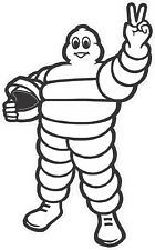 "#2226 (1) 6.5"" Michelin Man Racing Vintage Decal Sticker Laminated"