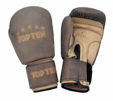 Top Ten Retro Brown Suede Feel Leather Competition Boxing Gloves