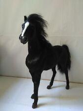 big simulation black horse toy polyethylene&furs war horse model about 34x36cm