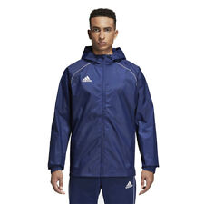 adidas Children Raincoat Core 18 Casual Jacket Football Jacket Childrens Jacket 164 Cv3742 Dark Blue / White