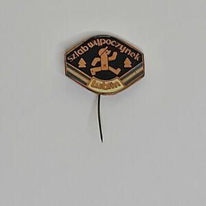 Vintage LUBLIN Polish City sztab wypoczybek Pin Stickpin