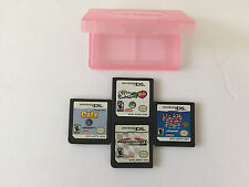 Lot of 4 Nintendo DS Games, Catz, Happy Feet, Mario Kart & Sims 2 Pets w/ Case