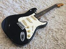 Fender Squier MIK Stratocaster, Black, Made in Korea by Samick.