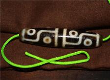 old tibetan dzi bead pendant necklace antique nepal ancient 12 eyes amulet eyed