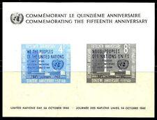 OFERTA!!! 198 1960 HB 2 CONMEMORACION NACIONES UNIDAS HOJA BLOQUE