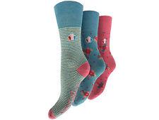 12 Pack Ladies Exquisite Elegance Coloured Design Cotton Rich Socks UK 4-7. 1839