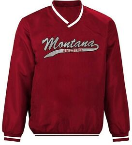 Montana Grizzlies NCAA Mens Stop & Go Pullover Windbreaker Jacket Adult Sizes