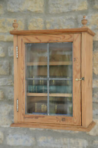 Antique Pine Apothecary / Bathroom / Bookcase / Wall Cupboard / Cabinet