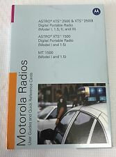 PMLN4940B Motorola Radios Manual  & Cards Astro XTS 2500 1500 2500I MT 1500 Disc