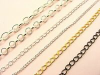 50CM or 1M x Metal Link CHAIN Findings ~ Curb Chain / Rolo Chain / Oval Chain ~