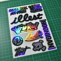 JDM Sticker Sheet - A5 - 9 Stickers! - Car Euro Jap Dub Tengoku Illest