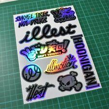 JDM Sticker Sheet - A5 - 9 Stickers! - Car Euro Jap Dub Tengoku Illest