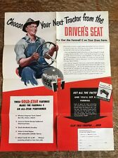 Vintage International Harvester Brochure Mailer Poster 1950 Tractor Farmall C