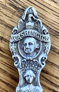 Sterling Silver Souvenir 6 inches, Spoon George Washington Monument Mount Vernon
