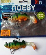 Noeby pêche leurre souple plombé odorant 9,5cm 20g X2 Perch