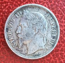 France - Napoléon III - Jolie Monnaie de  1 Franc 1866 A