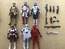 star wars black series 6 inch stormtrooper lot (6x figures)