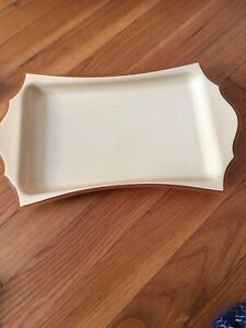 VINTAGE FRENCH PYRALIN DUBARRY IVORY TONE ORNATE TRAY CELLULOID DRESSER VANITY