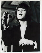 The Rolling Stones original 1960's 8x10 press photo Mick Jagger singing