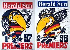 1997 1998 Adelaide Crows Grand Final Premiers Premiership Weg Poster RICCIUTO