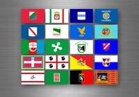 Planche autocollant sticker etiquette drapeaux region province italie italien